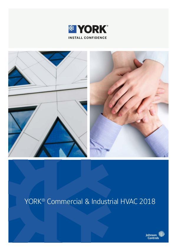 York HVAC Catalogue 2018 EN 2018