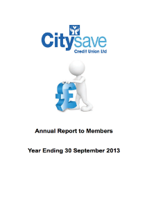 Annual Report to Stakeholders and Partners 201 2013
