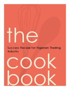 Success Recipe for Nigerian Trading Industry Volume #1 Sep. 2012