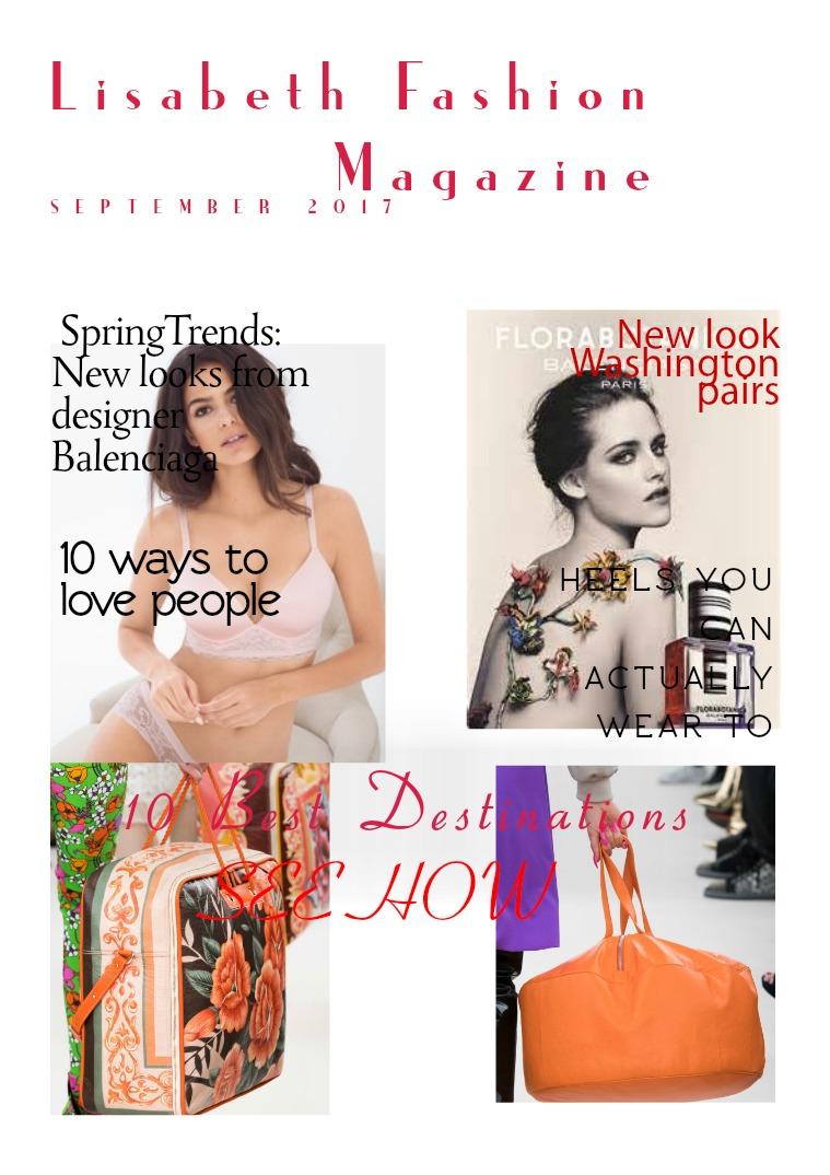 Lisabeth  Fashion Magazine OCTOBER 2017