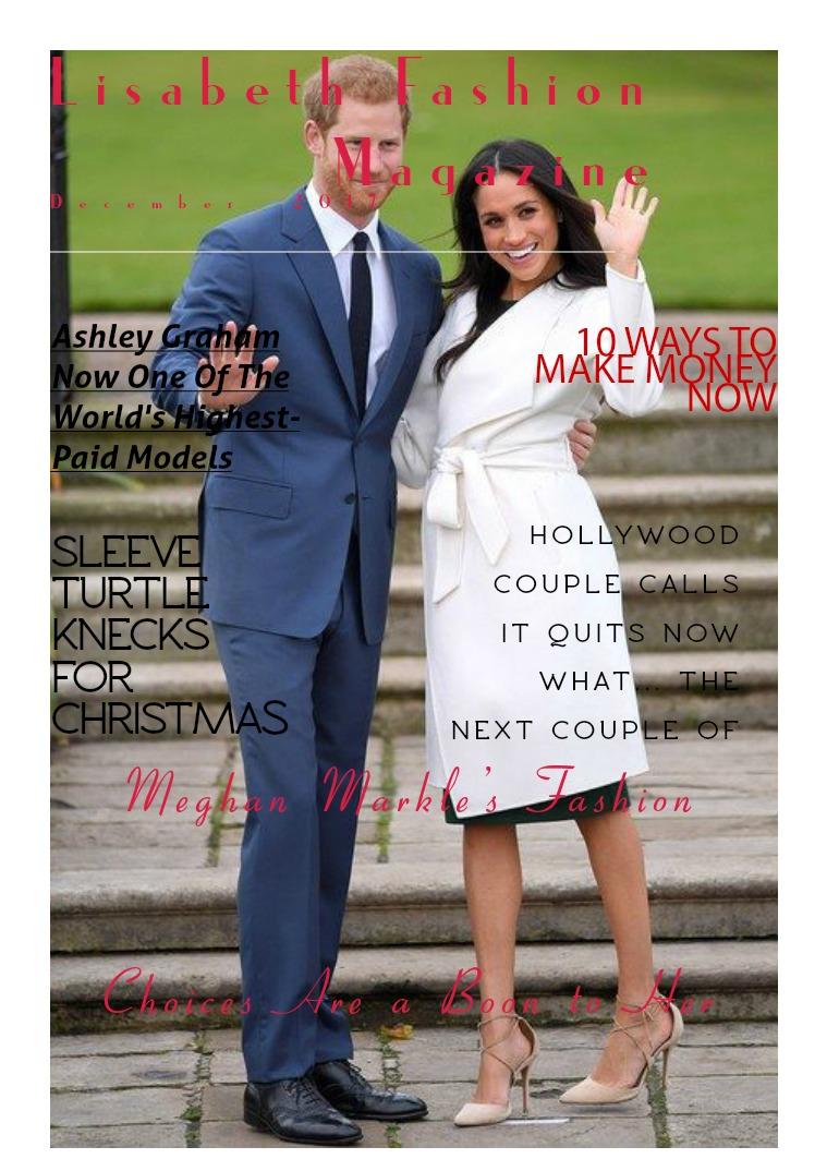 Lisabeth  Fashion Magazine December 2017