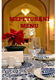 mepetubani menu