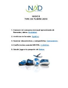Infra TIPS octubre 2013 OCT. 2013
