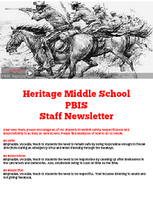 Heritage Middle PBIS