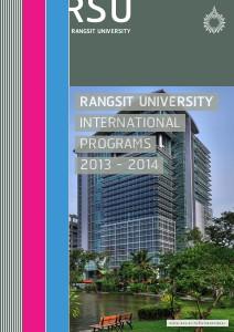 RSU International Programs Beta 2013