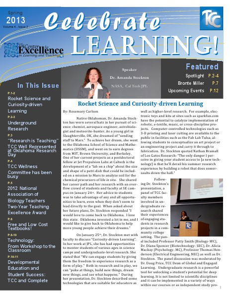 Celebrate Learning! Spring 2013 (Volume 4, Issue 2)