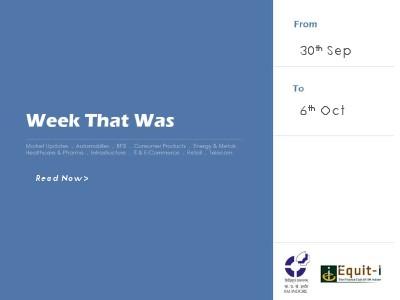 Week That Was 30 September - 6 October