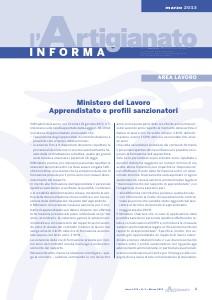 L'Artigianato Informa Marzo 2013