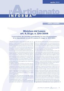 L'Artigianato Informa Aprile 2013