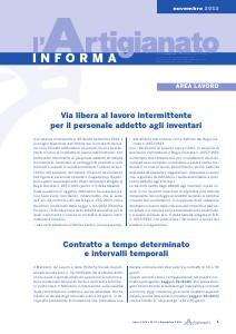 L'Artigianato Informa Novembre 2013