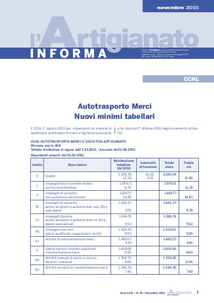L'Artigianato Informa Novembre 2015
