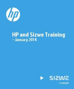 HP and Sizwe Training – January 2014 01