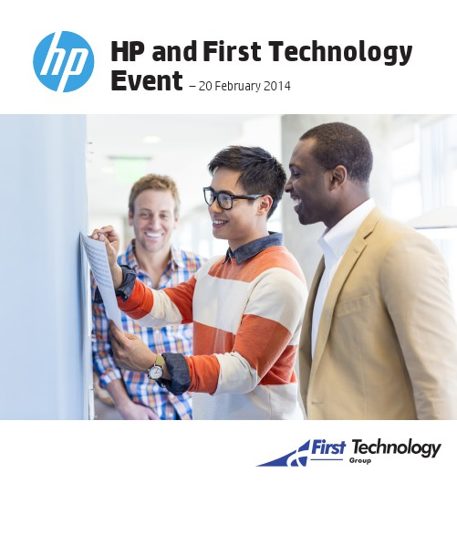 HP and First Technology Event – 20 February 2014 01