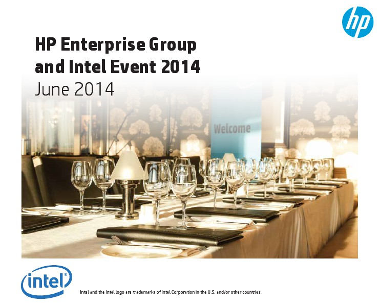 HP Enterprise Group and Intel Event 2014 01 02