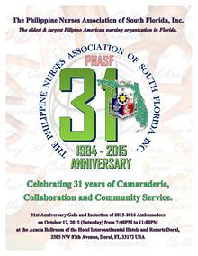 PNASF 31ST Anniversary Gala and Induction of 2015-2016 Ambassadors