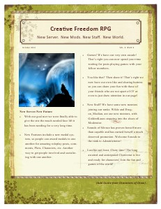 Creative Freedom RPG October 2013 Volume 1 Issue 1