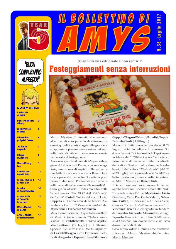 AMys - Bollettino Informativo n.36 - Luglio 2017