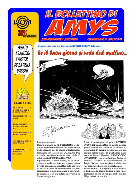 AMys - Bollettino Informativo N.9 Marzo 2014