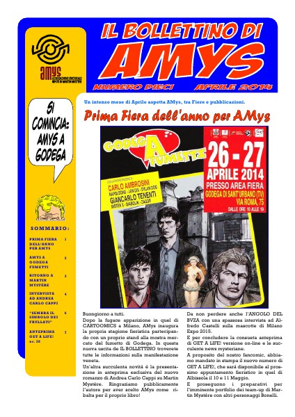 AMys - Bollettino Informativo N.10 Aprile 2014