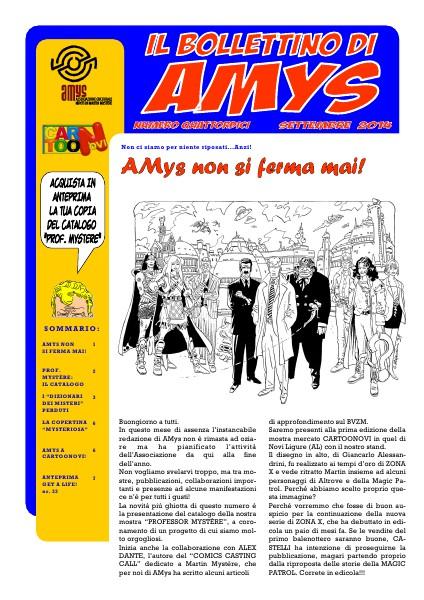 AMys - Bollettino Informativo N.14 Settembre 2014