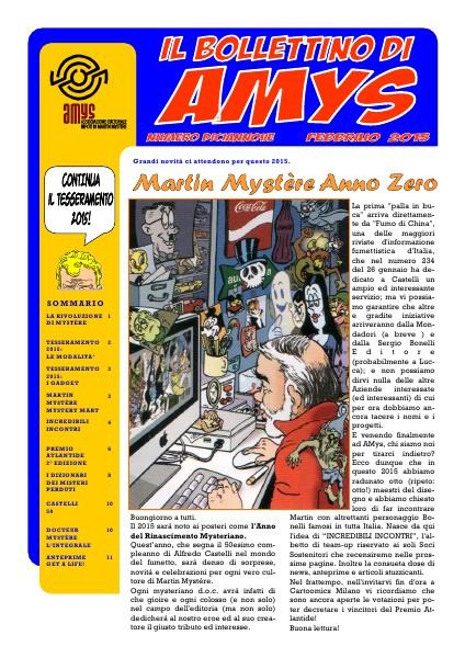 AMys - Bollettino Informativo N.19 - Febbraio 2015