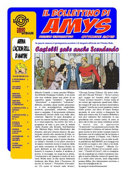 AMys - Bollettino Informativo N.24 - Ottobre 2015