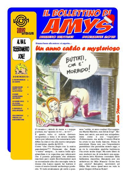 AMys - Bollettino Informativo N.26 - Dicembre 2015
