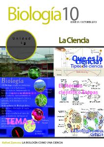 La Biología como una ciencia December 2013