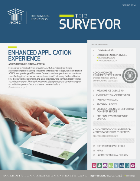 ACHC Surveyor Spring 2014
