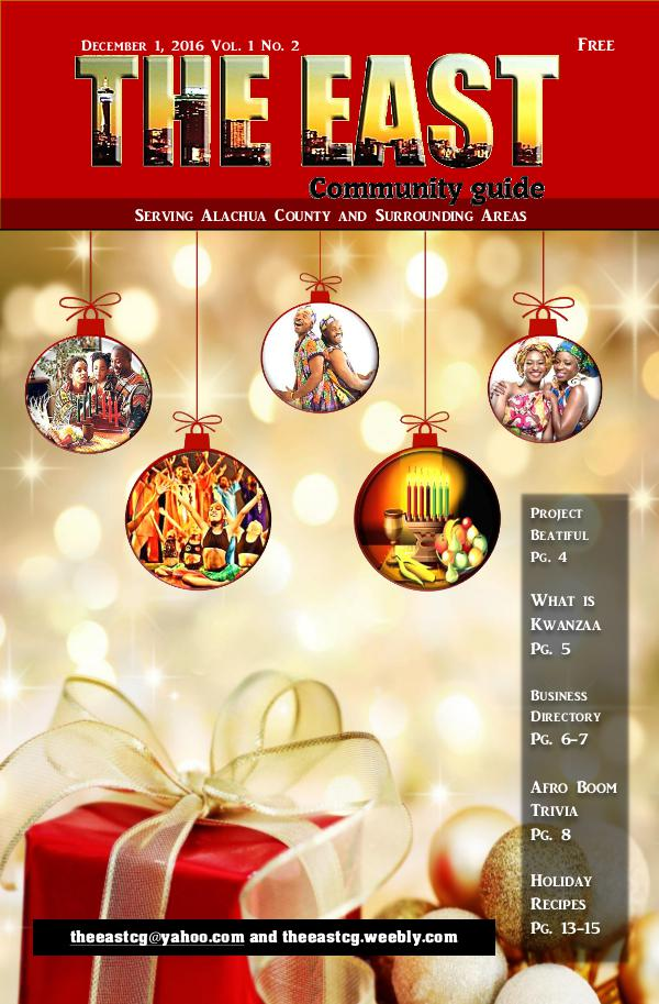 The East Community Guide Volume 1 Number 2  2016