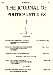 The Journal Of Political Studies