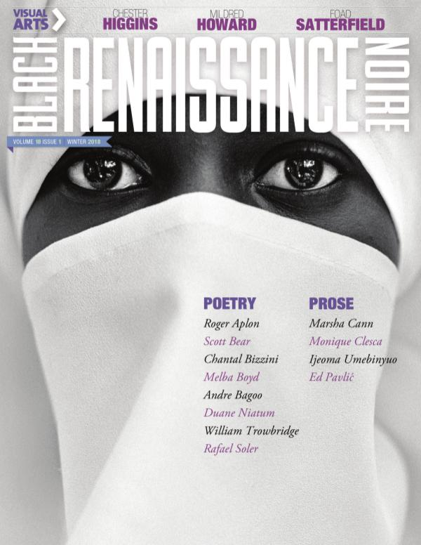 NYU Black Renaissance Noire Volume 18 Issue 1 - Winter 2018