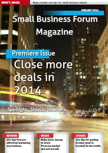 Small Business Forum Magazine Online Jan 2014