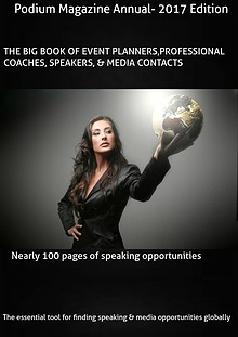 Podium Magazine's Big Book of speaking Engagements
