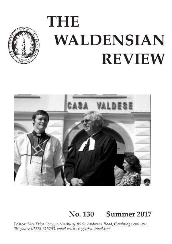 Waldensian Review No 130 Summer 2017