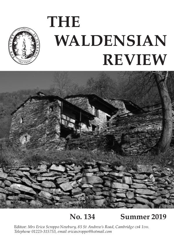 Waldensian Review No 134 Summer 2019