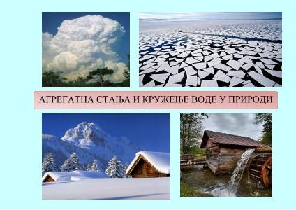 Agregatna stanja i kruženje vode u prirodi Agregatna stanja i kruženje vode u prirodi
