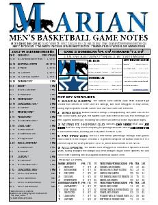 Men's Basketball Game Notes Volume 4