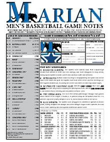 Men's Basketball Game Notes