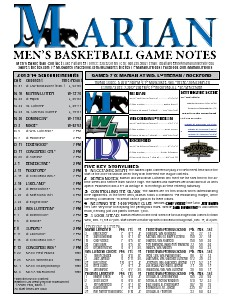 Men's Basketball Game Notes Volume 6