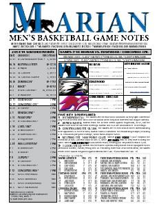 Men's Basketball Game Notes Volume 7
