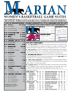 Women's Basketball Game Notes Volume 5