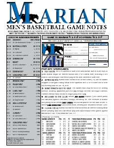 Men's Basketball Game Notes Volume 8