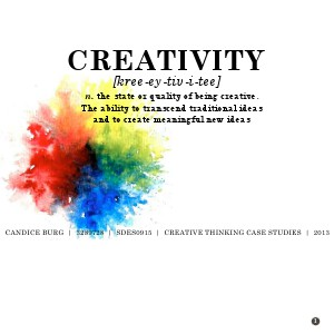 Personal Handbook of Creative Thinking Nov. 2013