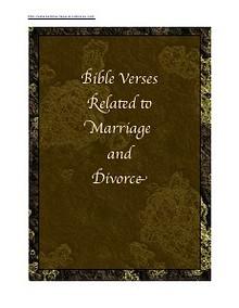 Bible Verses on Marriage & Divorce