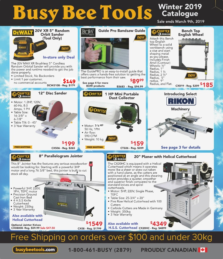 Busy Bee Tools 2019 Winter Catalogue