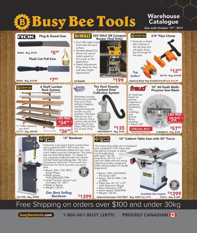Busy Bee Tools 2019 Warehouse Catalogue
