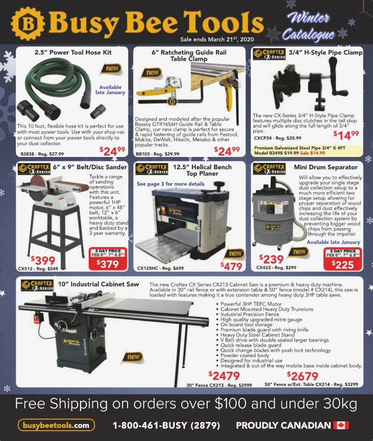 Busy Bee Tools Winter 2020 Catalogue