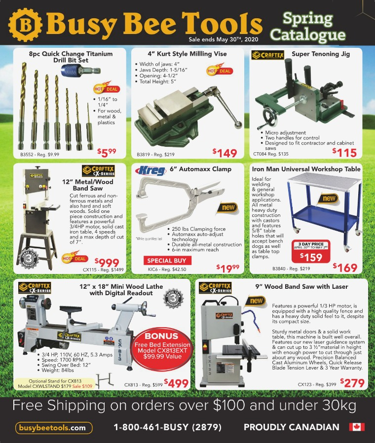 Busy Bee Tools 2020 Spring Catalogue