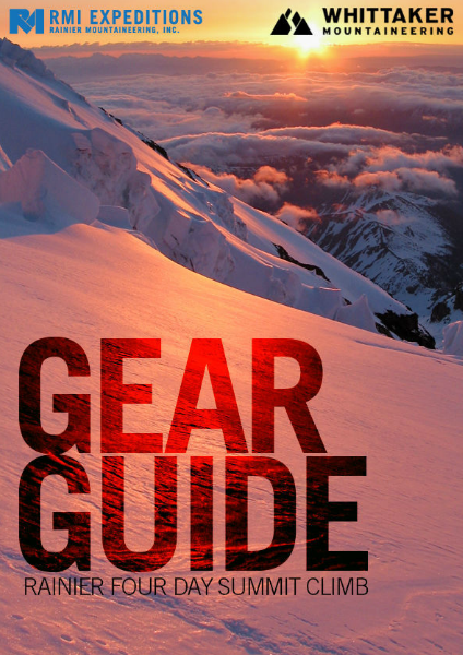 RMI and Whittaker Mountaineering Gear Guides Rainier Four Day Summit Climb